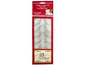 Poinsettia Silver Foil Stickers