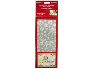 Snowflakes and Reindeer Silver Foil Stickers