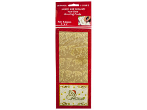 Christmas Stockings Gold Foil Stickers