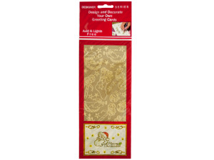 Enchanted Christmas Gold Foil Stickers
