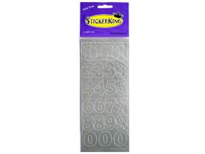 Numeric Silver Foil Stickers