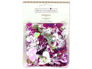 Love spangles confetti, 2.5 oz.