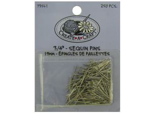 Wholesale: 250 piece 3/4 inch sequin pins