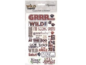 Wild Things Phrase Creative Rub-on Transfers