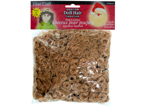 3 oz bag quick curls doll hair light brown
