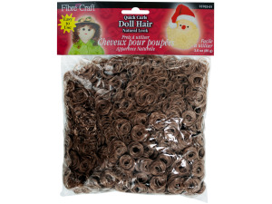 3 oz quick curls doll hair brown/auburn
