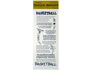 basketball facts/theme sticker sheet