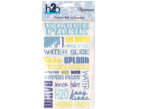 reminisce creative rub-on transfer h2o water park