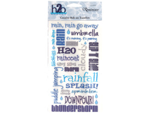 reminisce creative rub-on transfer h2o rain