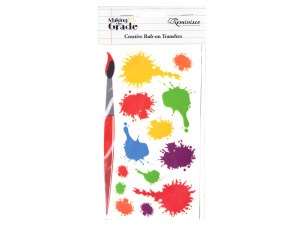 reminisce creative rub-on transfer paint splat