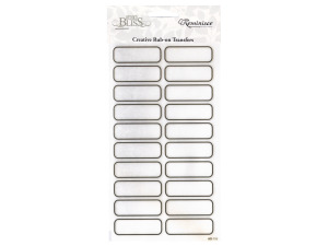 reminisce creative rub-on transfer blank rectangle