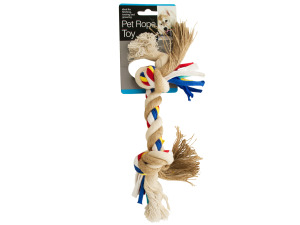 Medium Colorful Knotted Pet Rope Toy