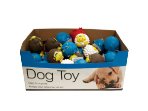 Animal Characters Dog Squeak Toys Counter Top Display