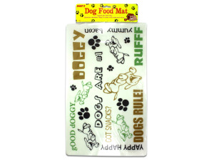 Plastic dog food mat
