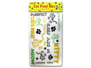 Cat food mat