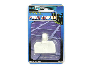 Three-way phone adapter