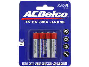 "Heavy duty ""AAA"" batteries"