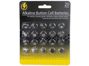 Alkaline button batteries