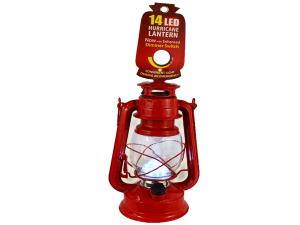 LED Red Hurricane Lantern
