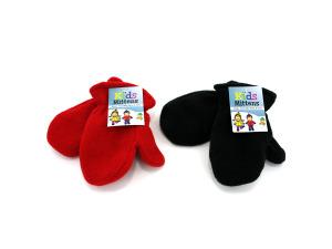 Wholesale: Kids Fleece Mittens, Assorted Colors