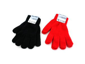 Wholesale: Knitted magic gloves, red or black