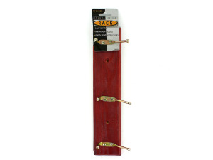 Deluxe wood coat rack with screws