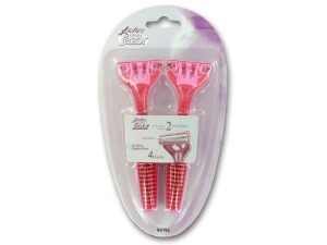 Ladies disposable razor set