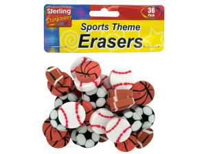 Sports shape erasers