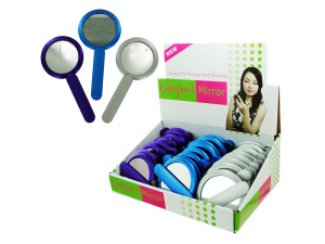 Compact mirror with handle display