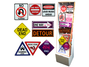 Fun room signs display