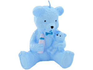 2.5 inch x 3.5 inch blue bear candle