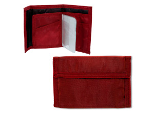 red velcro wallet