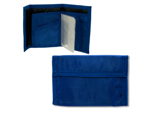 blue velcro wallet