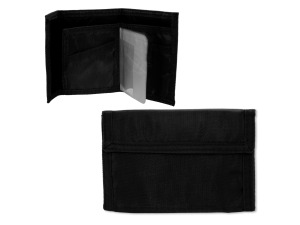 black velcro wallet