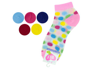 low cut dots 6-8 socks