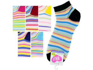 low cut stripe 9-11 socks