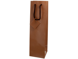 bottle gift bag brown