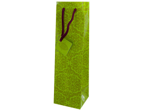 bottle gift bag green