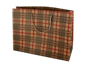 Large Plaid Paper Gift Bag