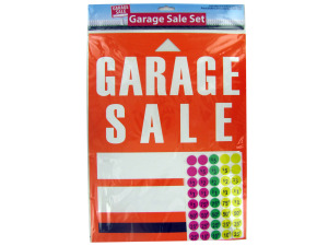 Garage Sale Sign and Sticker Set