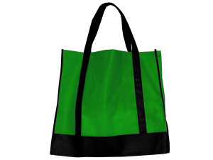 Green/Black Shopping Tote