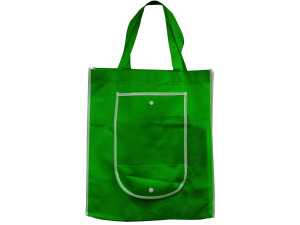 Green Shopping Tote with Pocket