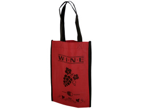 Red Wine Bottle Carry Bag with Four Sections
