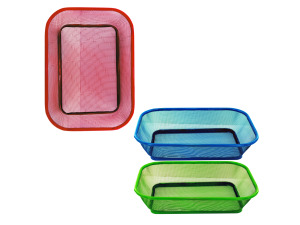Assorted colors mesh rectangle basket