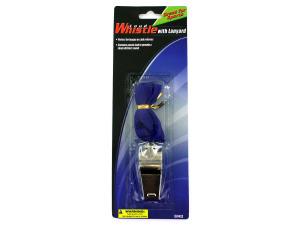 Wholesale: Metal Whistle with Lanyard