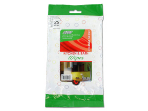 Kitchen and bath wipes