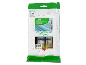 Window cleaning wipes