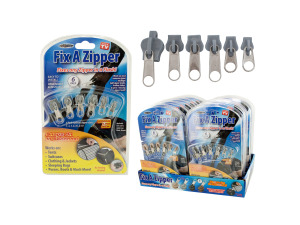 6 pk fix a zipper asst colors (12 packs per display)