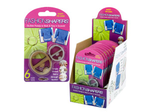 6 piece fashion shapers (12 packs per pdq)