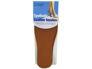 Synthetic leather insoles